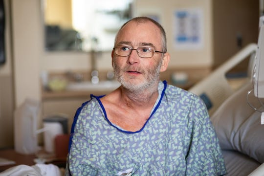 Rural Alabama resident Davis Beasley, 48, reflects on his Nov. 15 heart-liver transplant, the first performed at UMMC.