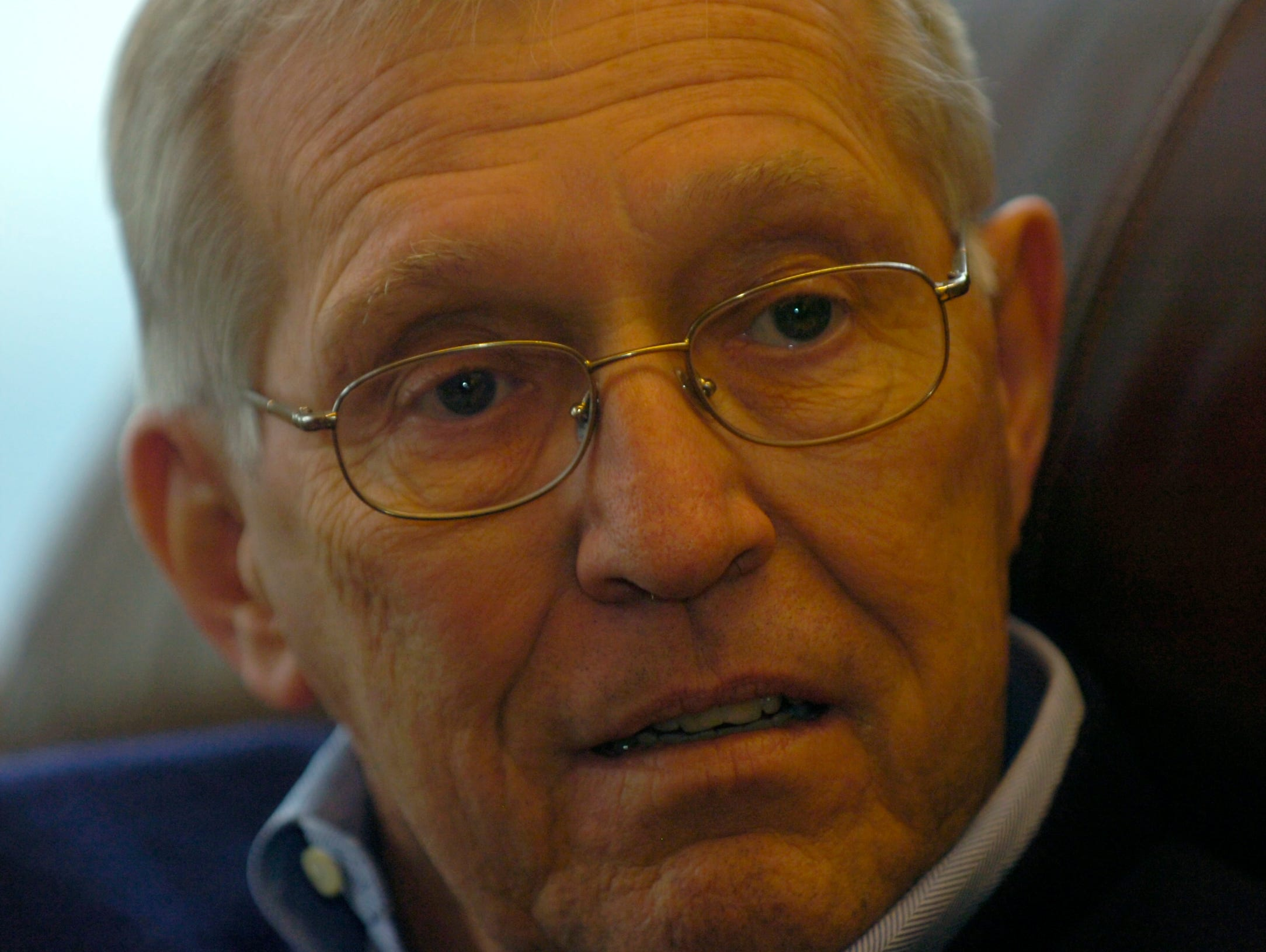 Former Tennessee Governor Don Sundquist gives an interview at his home in Laurel Valley, located in Townsend, TN. Sundquist served as governor from 1995 to 2002.