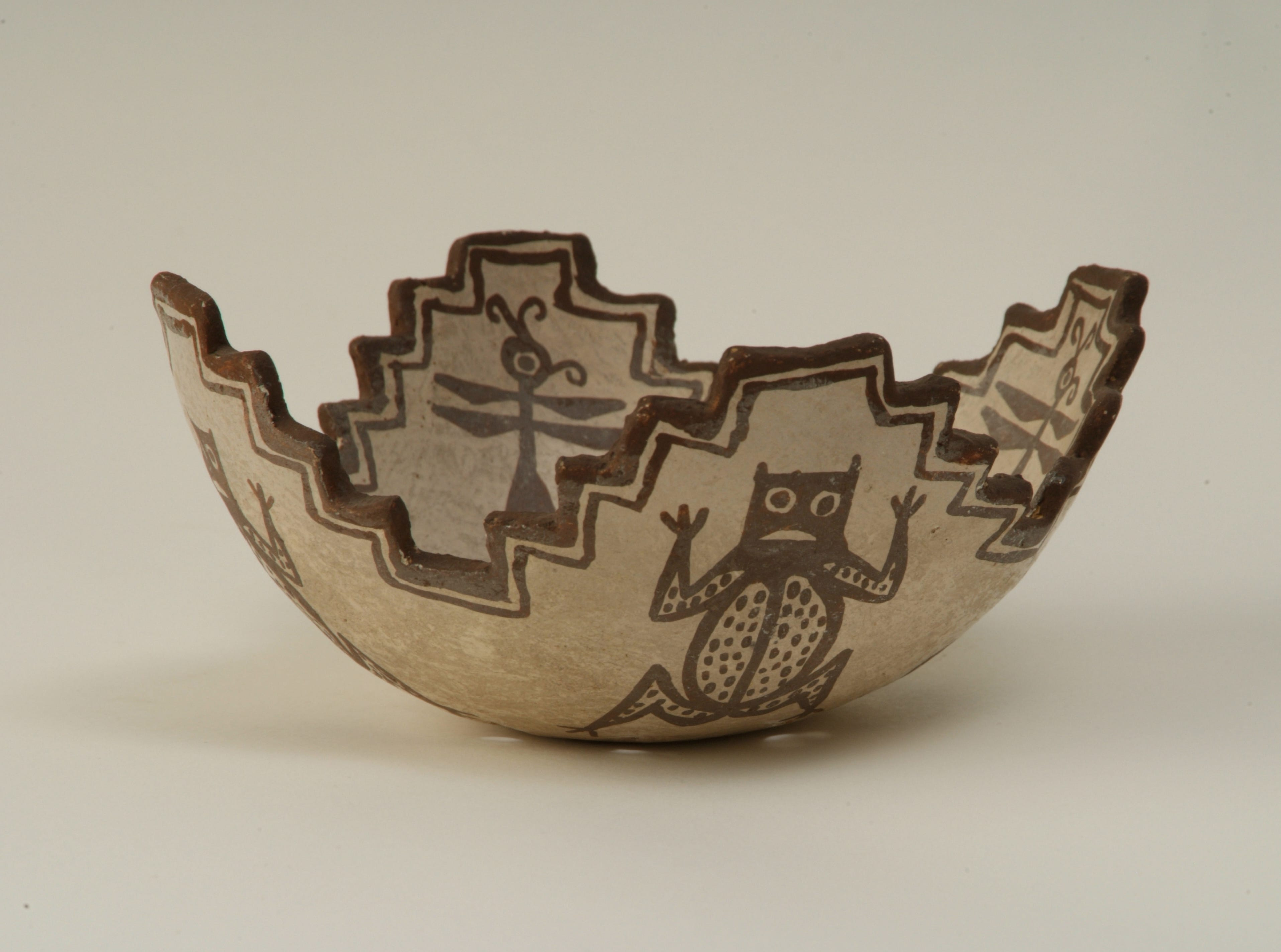 "This Zuni cornmeal bowl is It is part of the ""Pueblo to Pueblo: The Legacy of Southwest Indian Pottery""  exhibit at the McClung Museum of Natural History and Culture."