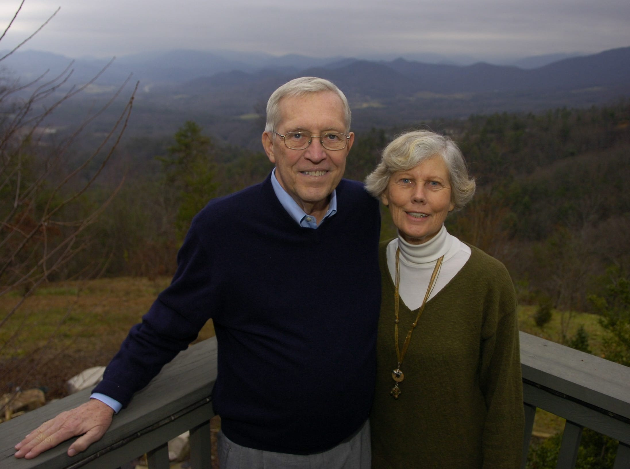 Former Tennessee Governor Don Sundquist and his wife Martha Sundquist pose for a portrait at their home in Laurel Valley, located in Townsend, TN. Sundquist served as governor from 1995 to 2002.