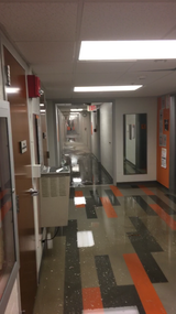 Parts of Clement Hall at UT are still without electricity after a pipe burst, flooding the seventh floor, on Sunday morning.