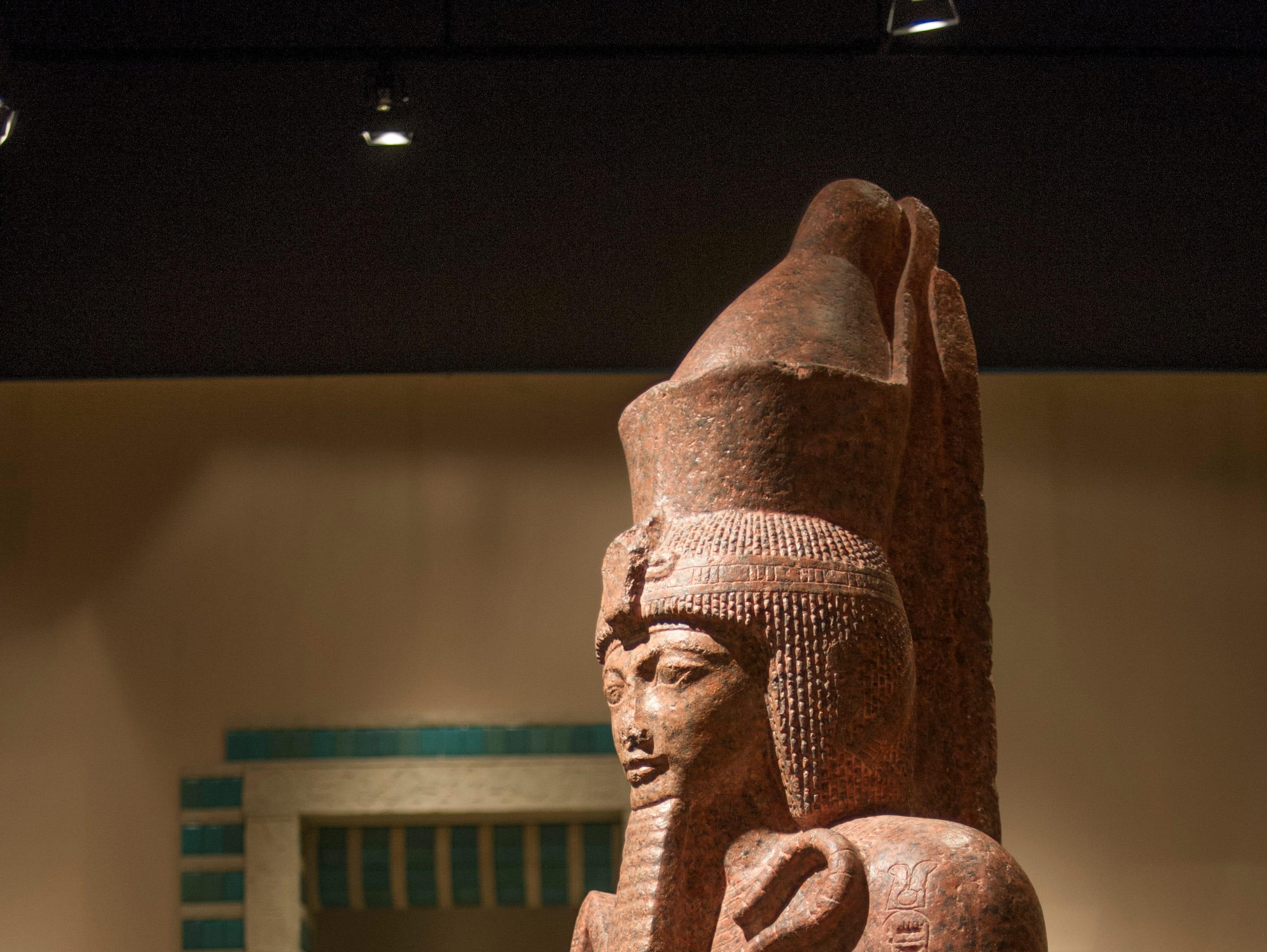 A plaster cast of Ramesses II greets visitors to the 'Ancient Egypt: The Eternal Voice' on Wednesday, May 8, 2013, at the McClung Museum of Natural History and Culture. The museum is celebrating its 50th anniversary year with a community birthday party June 1 from 1-5 p.m.
