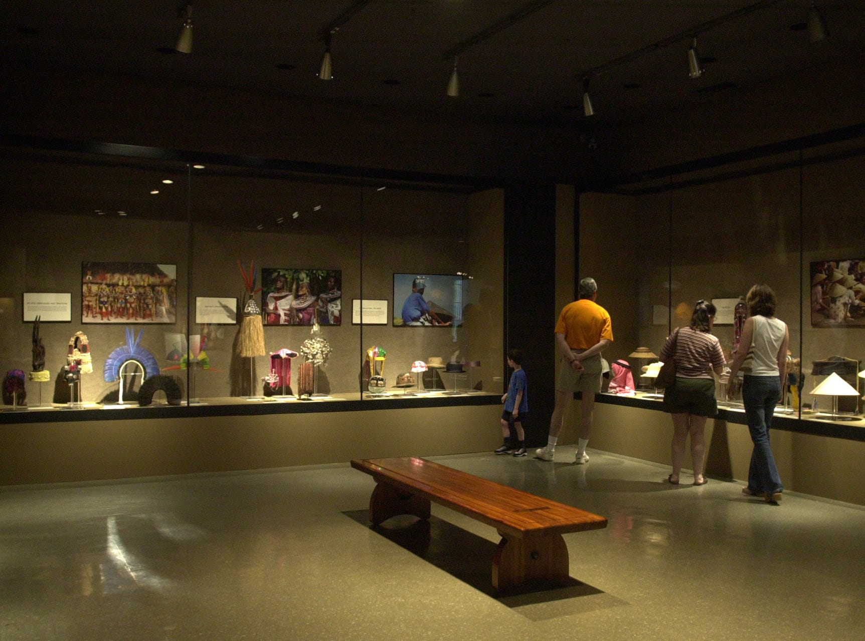 Hats and Headdresses exhibit at the McClung Museum Sunday. There are over 100 items on display that range in variety from all over the world. 2003