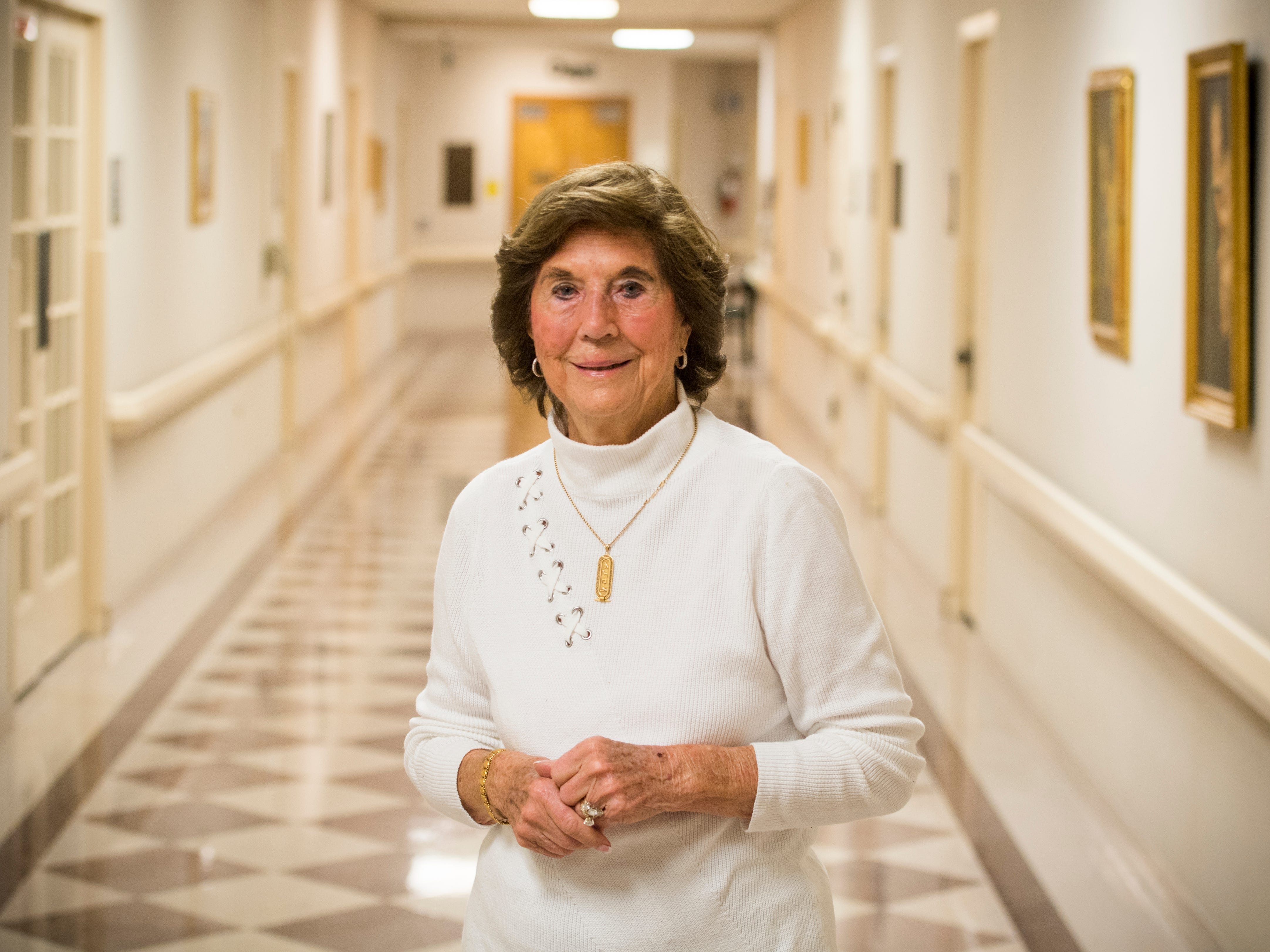 Former St. Mary's School of Nursing director Margaret Heins at Physicians Regional Medical Center on Friday, November 30, 2018.