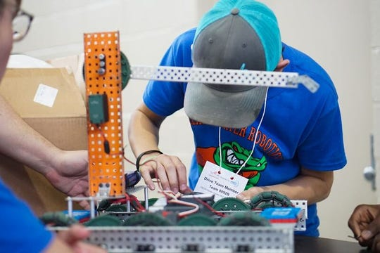 Dozens of Louisiana students participated in a robotics competition Saturday at the renovated Career Center in Lafayette.