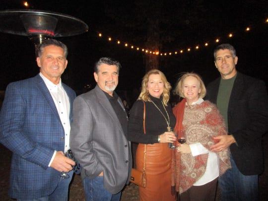 Tim Baldridge, David and Lexi Baldridge, Monica and Harold Domingue