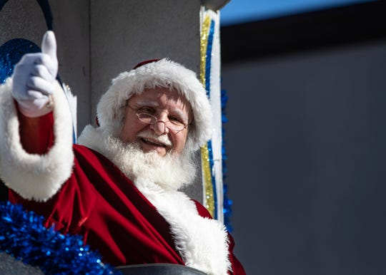 Santa rolled through Lafayette bringing good cheer on Sunday, December 2, 2018 with the Sonic Christmas Parade. The Parade begain Downtown to the delight of young children and those young at heart.