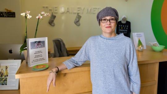 Stephanie Bradley in side her gym, The Dailey Method, on Dec. 3.