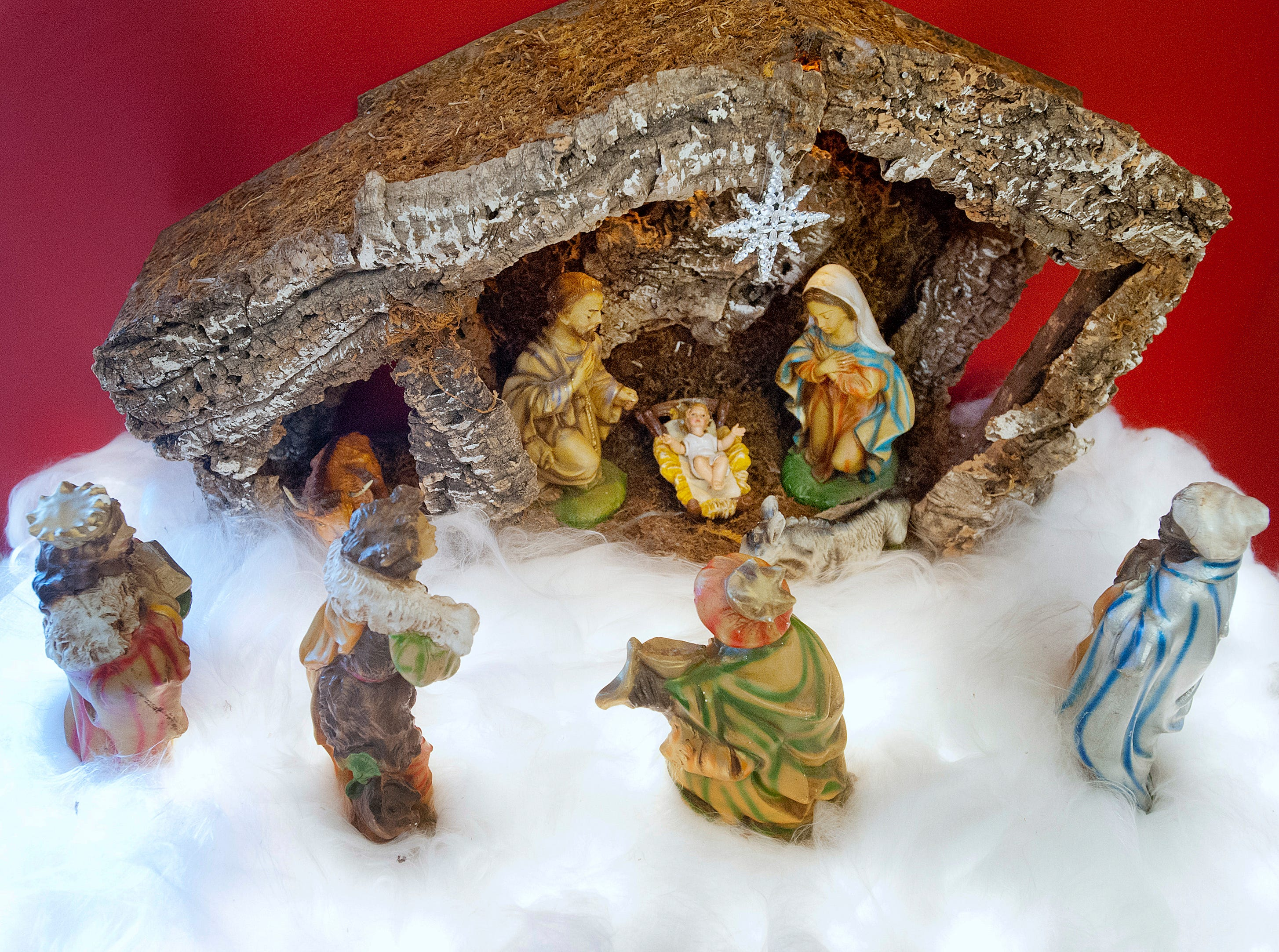 This nativity scene is Teresa McMurry's first.
