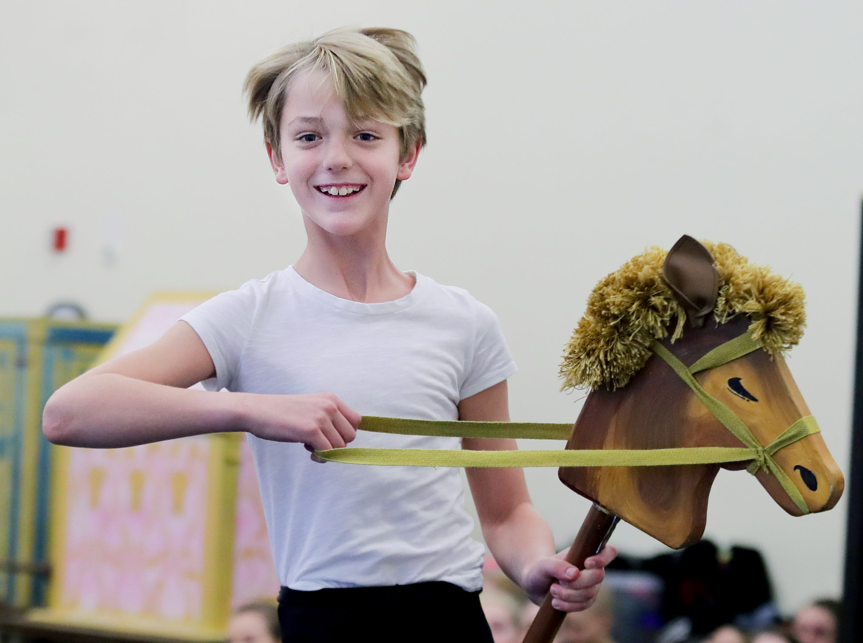 Judah Lorenz practices for an upcoming production of the Nutcracker. Judah plays the part of Fritz.
