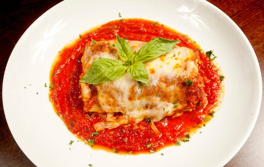 Sarino Italian restaurant owner and executive chef Carmelo Gabriele's traditional Bolognese lasagna is made with ricotta and parmesan cheeses in a mornay sauce made with provolone.  17 November 2018