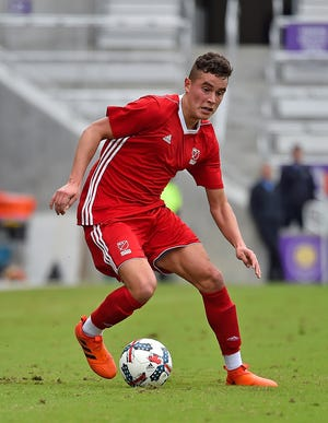 Xavier Gomez, shown here during the 2018 MLS Player Combine, is the first player signing for Lansing Ignite. He was drafted 41st overall by Minnesota United in the 2018 MLS SuperDraft.