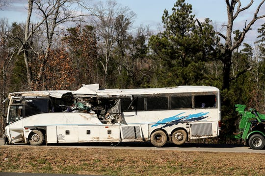 A bus carrying football teams from the Orange Mound Youth Association crashed outside Benton, Arkansas, on Dec. 3.