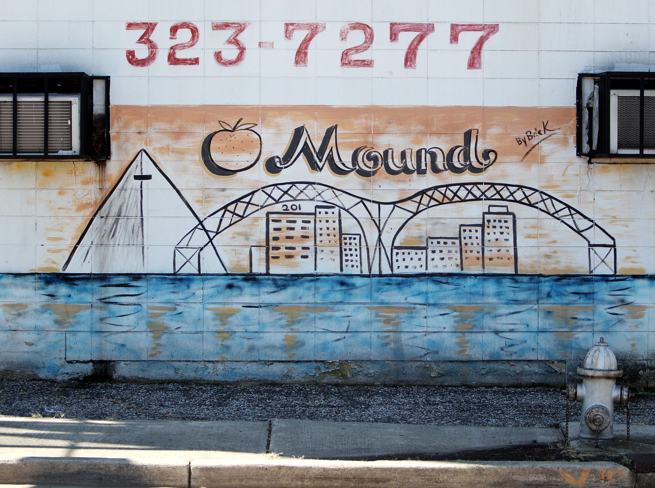 August 13, 2015 - This mural is located at the corner of Airways and Enterprise in Orange Mound. (Mike Brown/The Commercial Appeal)