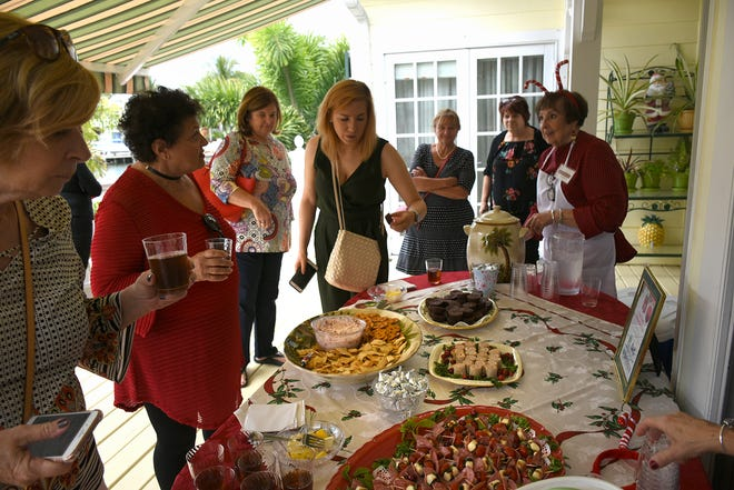 Refreshments were provided at each home. Hundreds toured Friday afternoon through four homes decked out for the holidays in the Marco Island Christams Home Tour, sponsored by the Calusa Garden Club of Marco Island and Marco Island Nature Preserve and Bird Sanctuary.