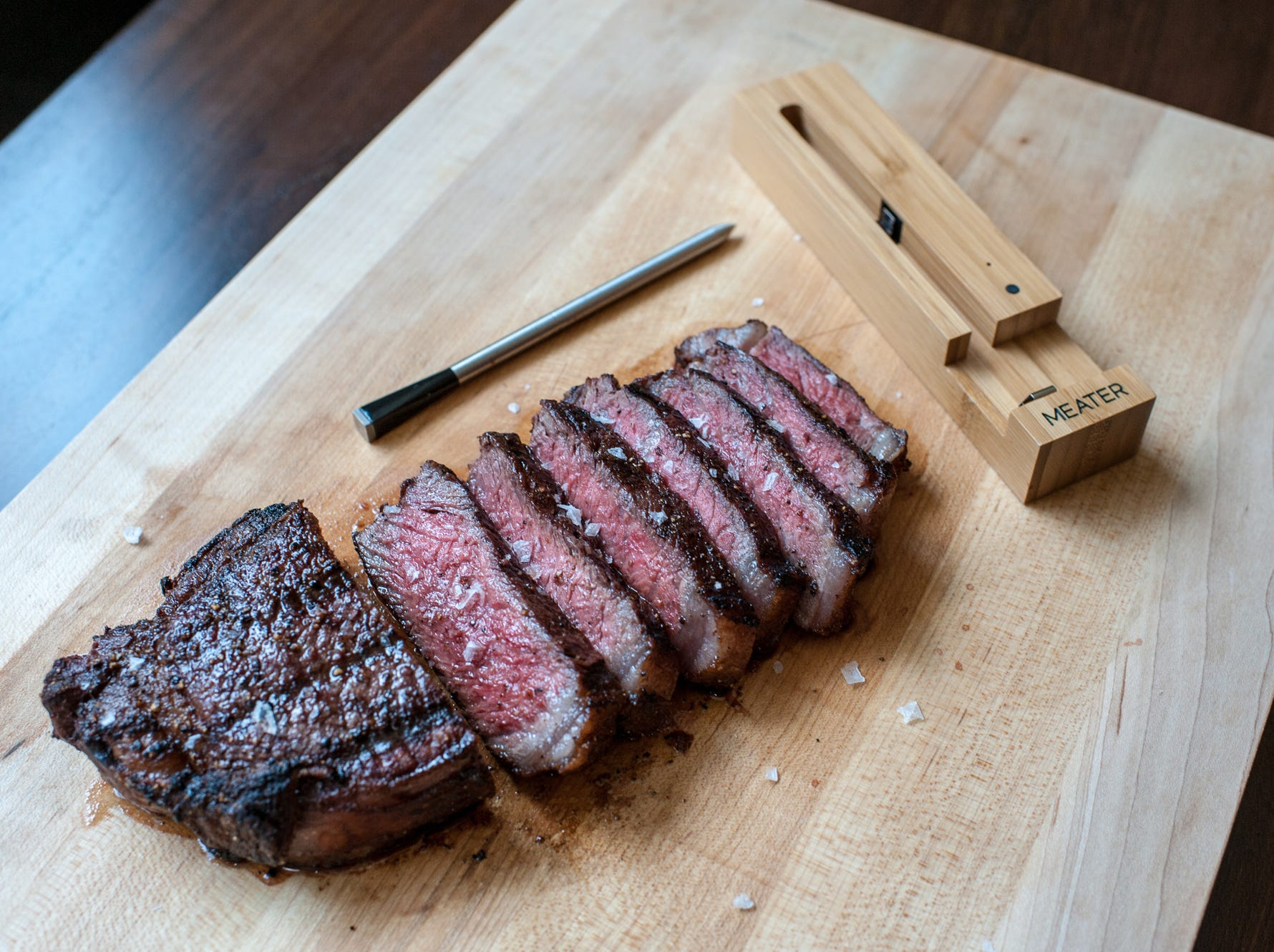 Meater Wireless Meat Thermometer, $69  and $99 models. For use with grill, oven or the smoker.