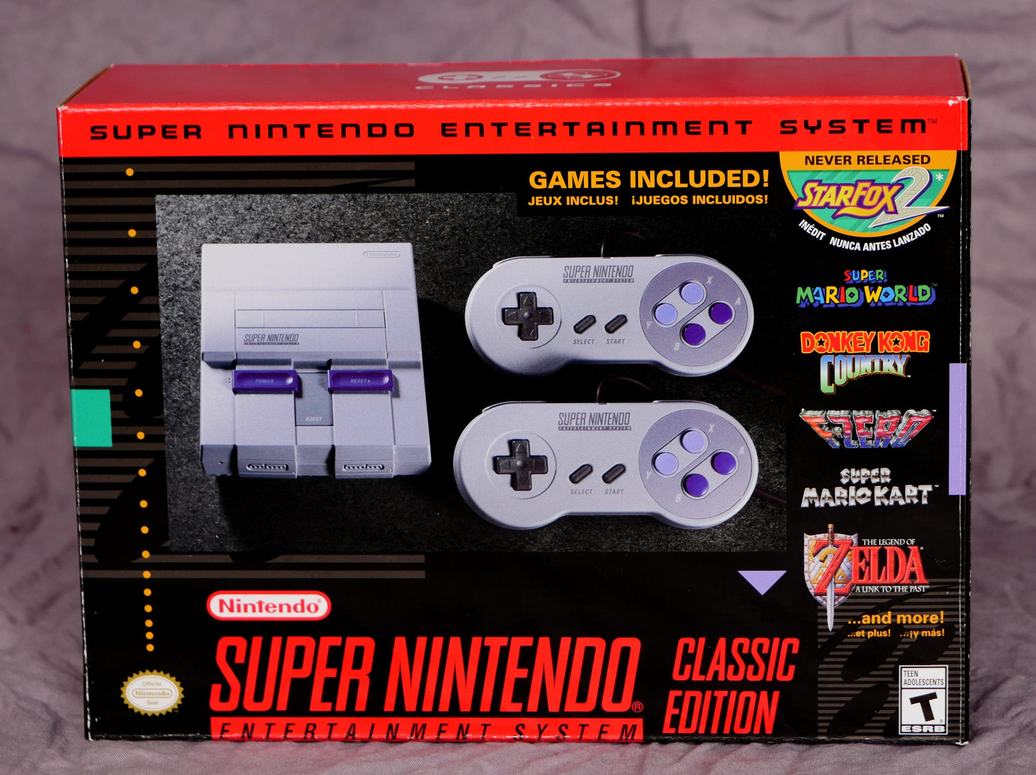 Nintendo Classic Edition SNES console, $79.99. This mini game console is pre-loaded with classic games.