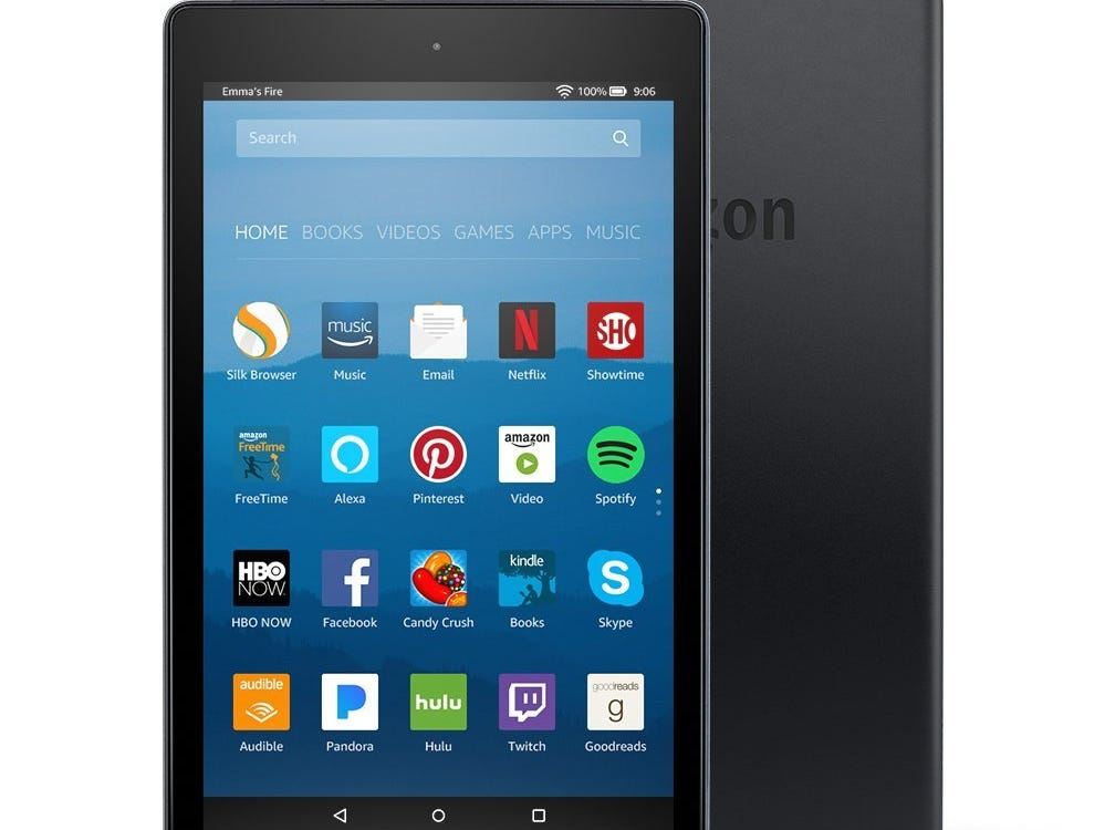 Amazon's Fire tablets, like this Fire HD 8, suit a budget.