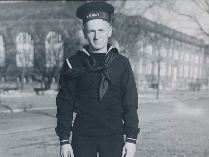 Roy K. Marin enlisted in the Navy the day after the attack on Pearl Harbor and was featured in a Milwaukee Sentinel story. Marin served on submarines throughout the war and was killed when the Japanese sank the USS Bullhead on the day the atomic bomb was dropped on Hiroshima.
