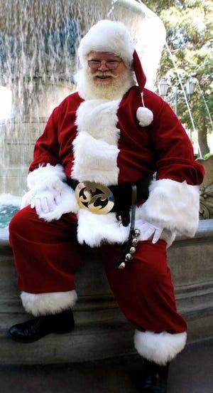 Shane Linskey of St. Francis has portrayed Santa since 2006.