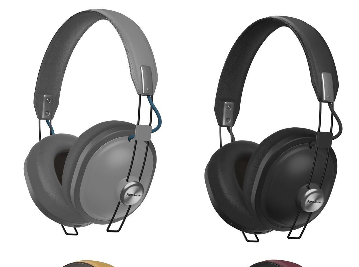 Panasonic RP-HTX80B Bluetooth Retro Headphones, $99.