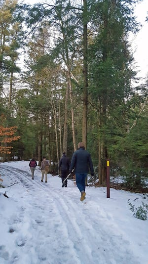 A segment of the Ice Age Trail travels through Point Beach State Forest in Two Rivers.