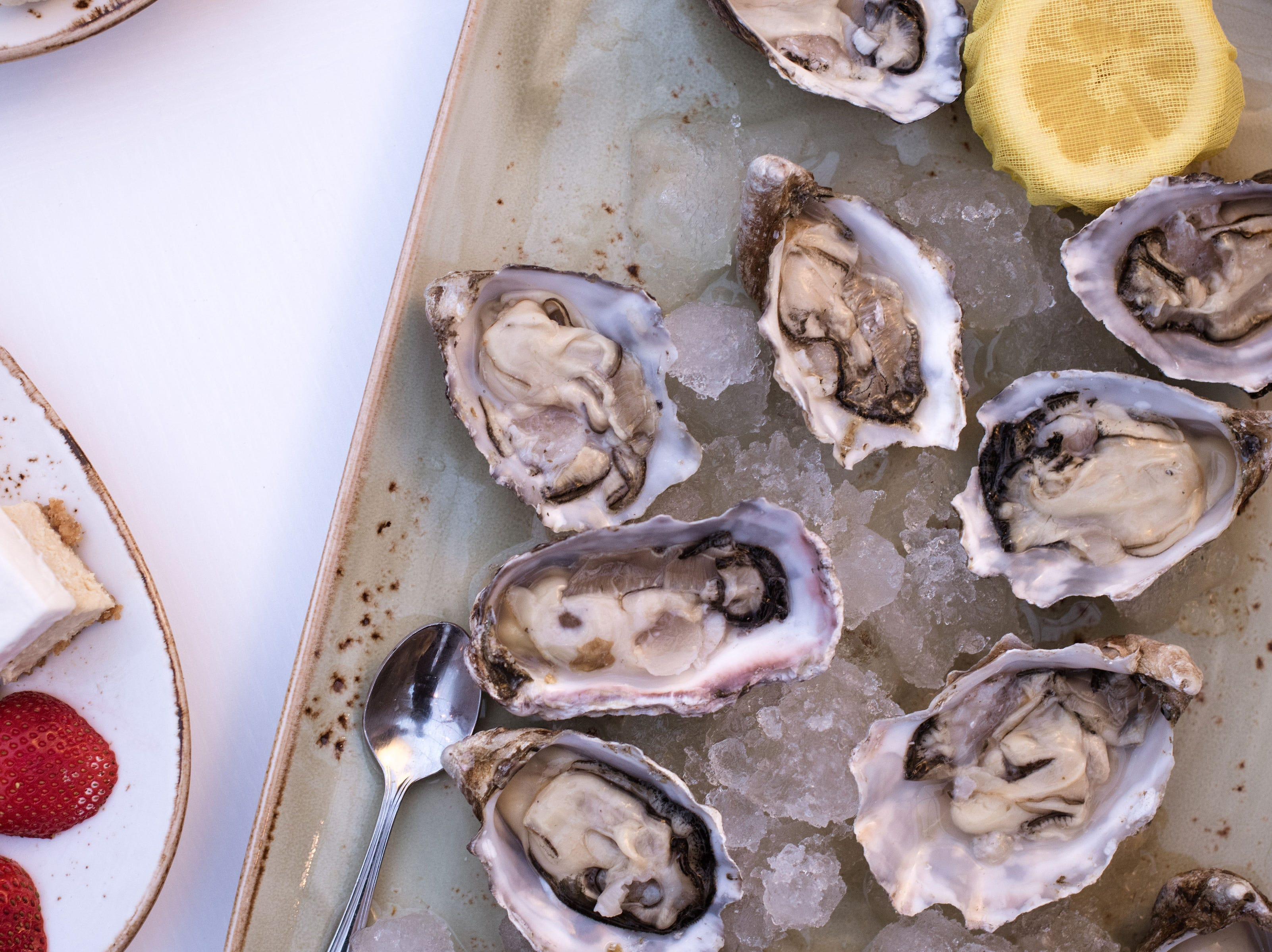 The Oyster Platter is one of six food packages available in the Lux Domes at Cafe Benelux.