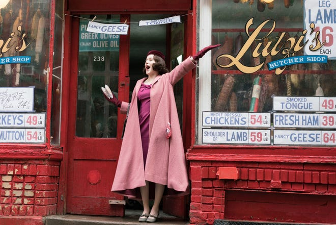 """Rachel Brosnahan, who won a Golden Globe for her performance on the first season of Amazon Prime's """"The Marvelous Mrs. Maisel,"""" has been nominated again for best actress in a comedy series for her work on the show's second season."""