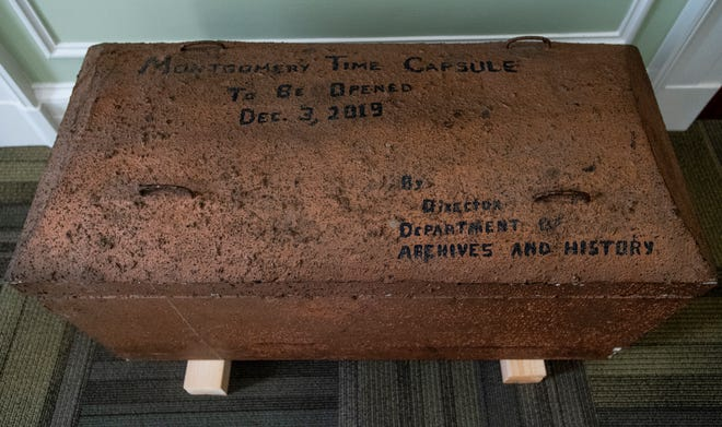 The City of Montgomery and the Alabama Department of Archives and History unveiled, during a ceremony at the Archives on Monday December 3, 2018, the 1969 time capsule that will be opened on the 200th anniversary of the incorporation of Montgomery on December 3, 2019.