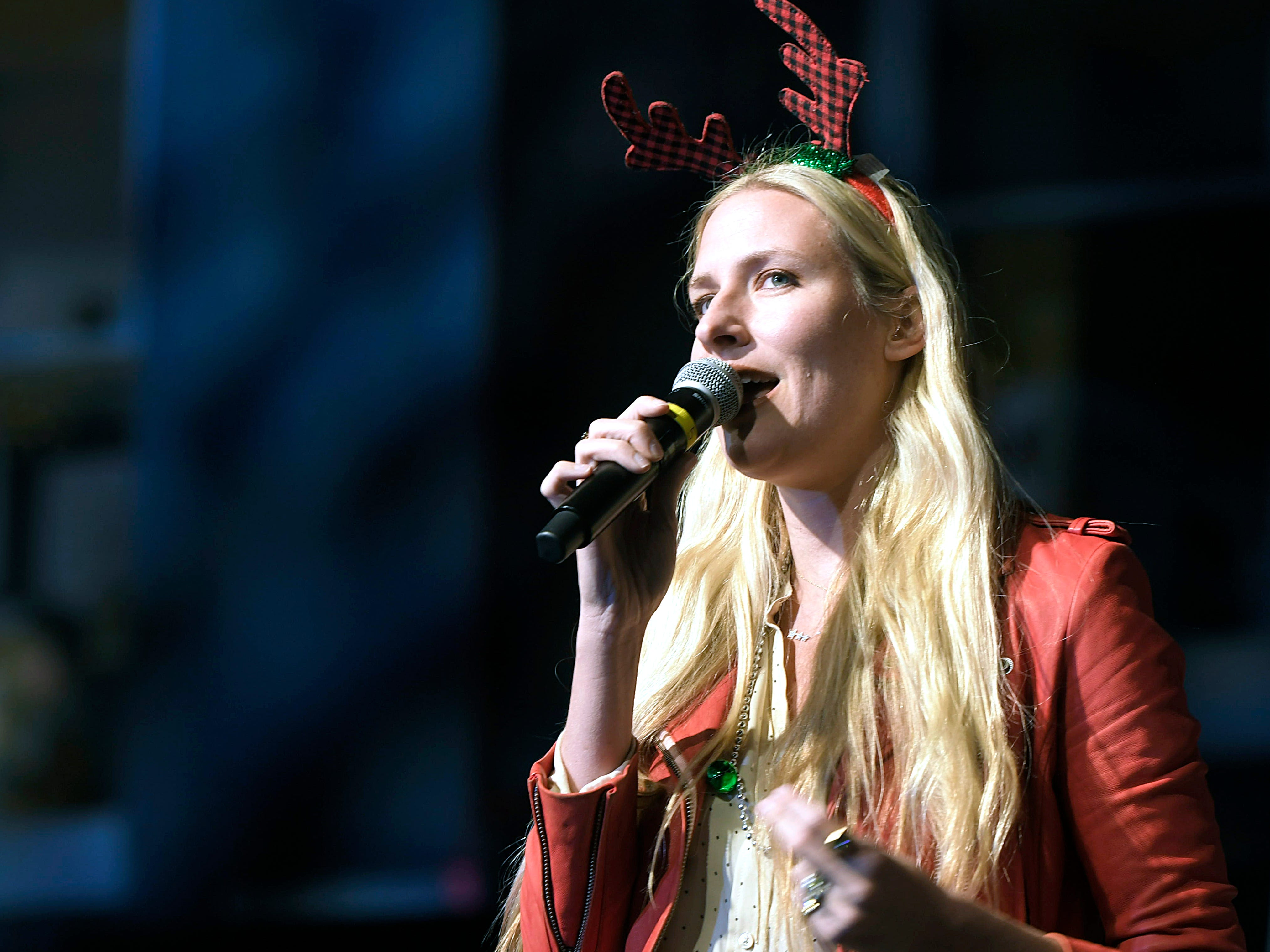 Holly Williams performs at Franklin's annual Christmas Tree Lighting on Sunday, Dec. 2, 2018.
