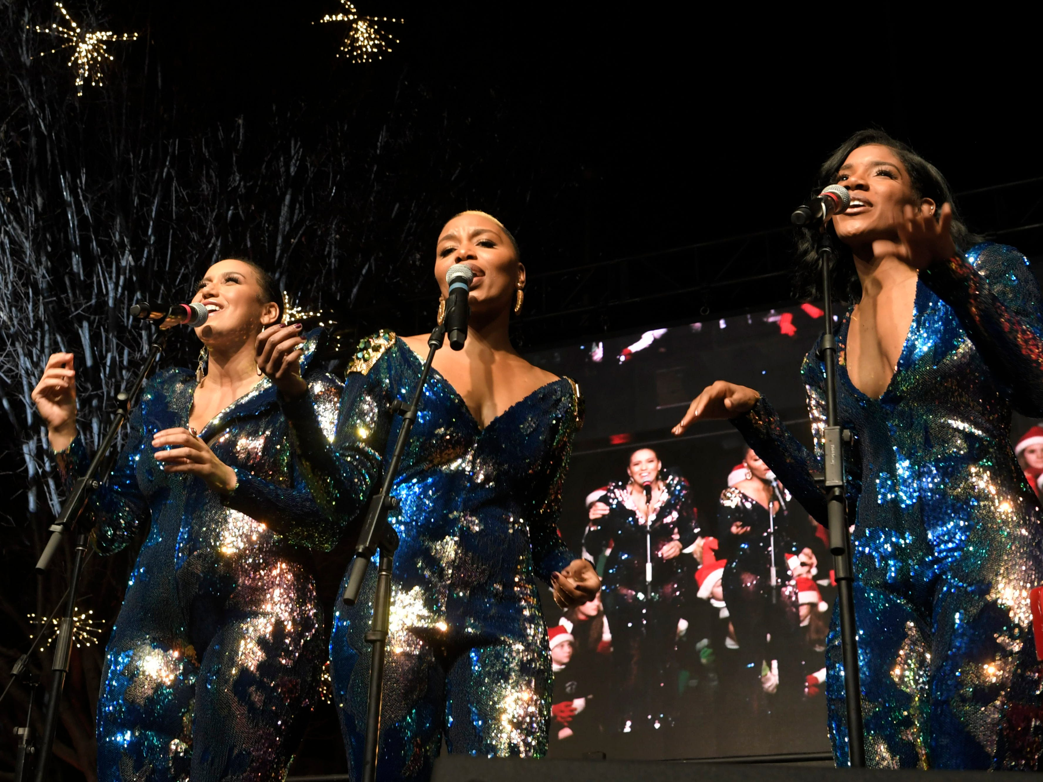 The Shindellas perform at Franklin's annual Christmas Tree Lighting on Sunday, Dec. 2, 2018.