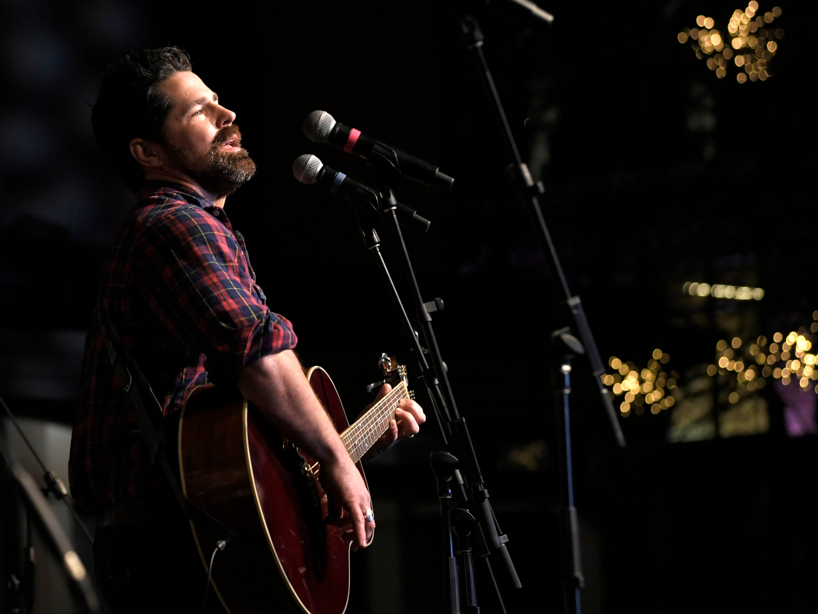 JT Hodges performs at Franklin's annual Christmas Tree Lighting on Sunday, Dec. 2, 2018.