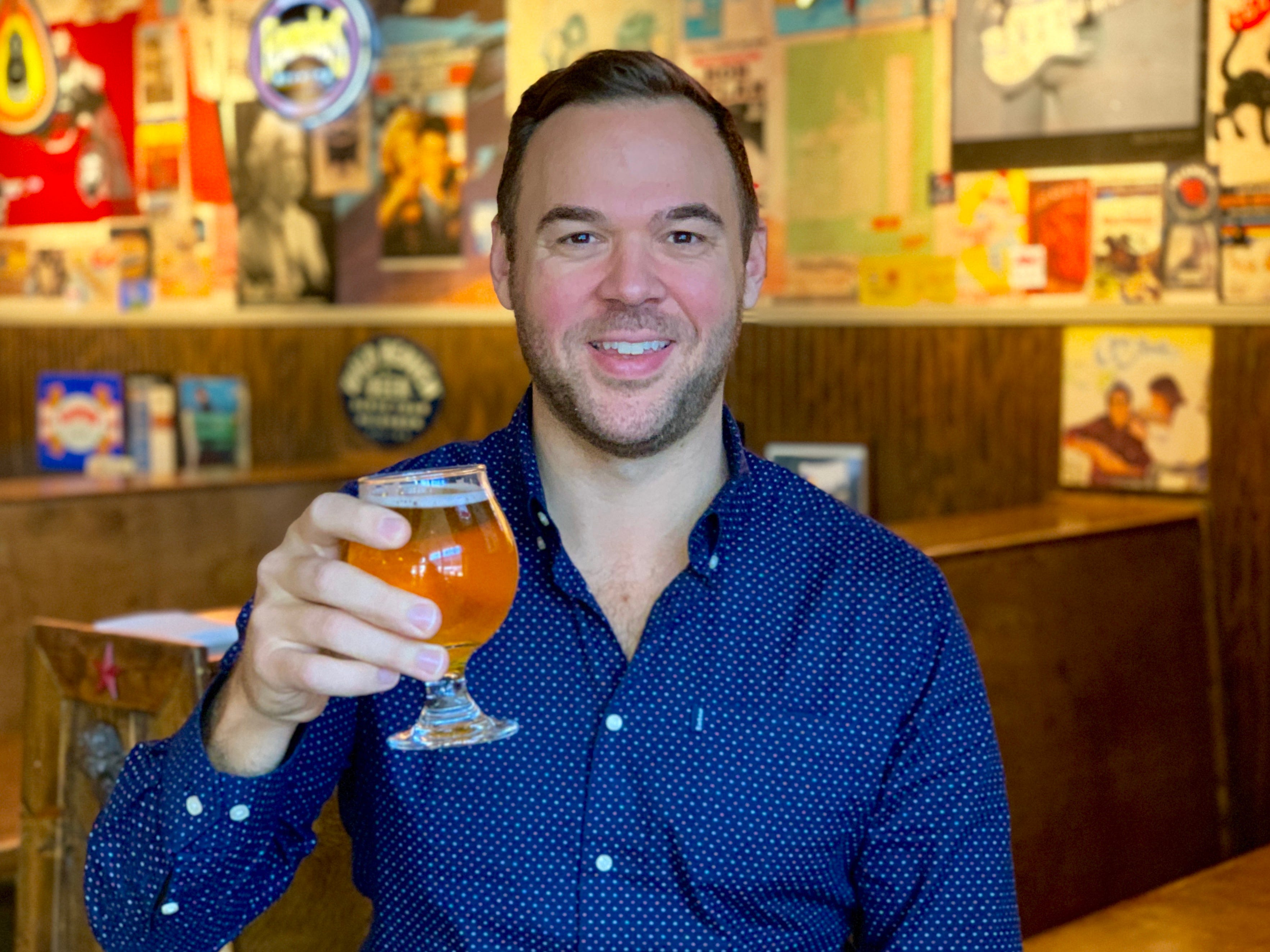M.L.Rose owner founder Austin Ray, at the original Melrose location.