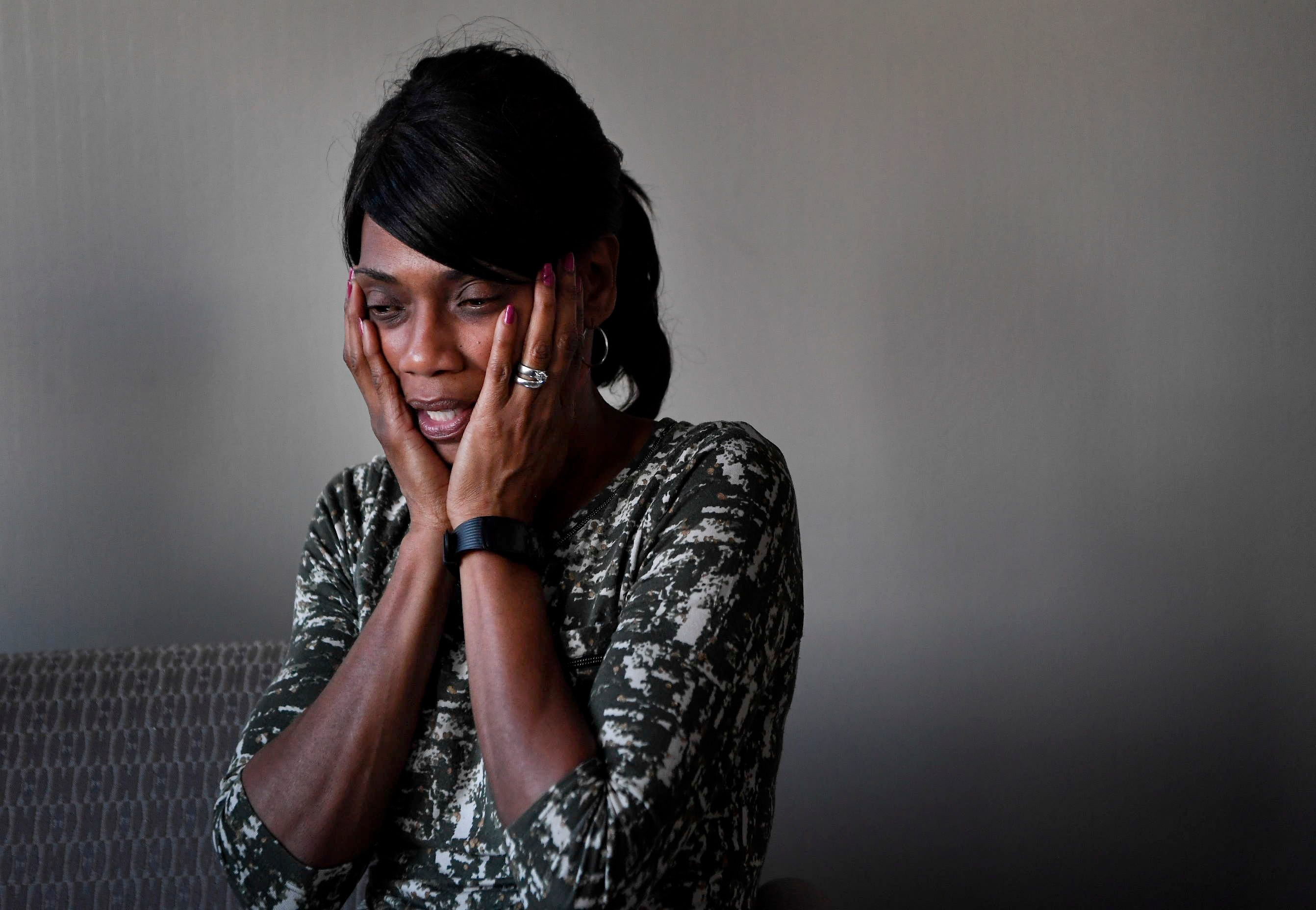 """Shirl Baker, mother of Waffle House shooting victim DeEbony Groves, cries every morning. """"It sometimes helps me feel like the weight has been lifted,"""" she said."""