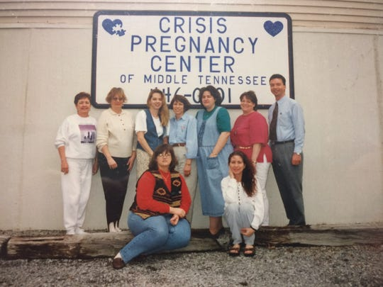 Opening day of CareNet, then known as the Crisis Pregnancy Center, in 1995.