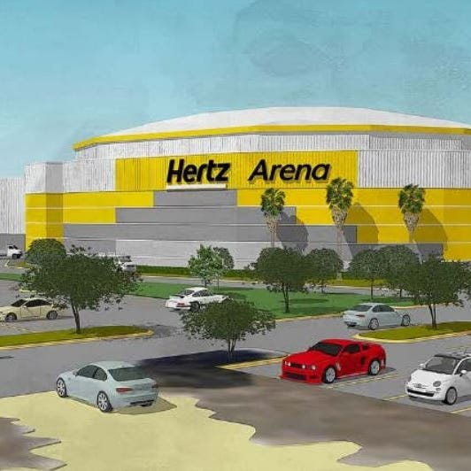 Vote in our online poll: Which paint rendering do you prefer for Hertz Arena?