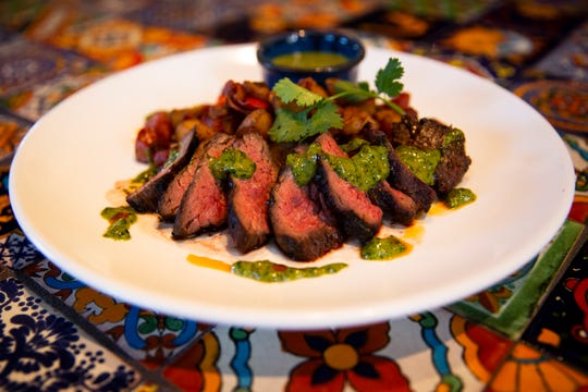 Carne asada prepared by Jim Sleep, executive chef at Agave in North Naples, on Thursday, Nov. 29, 2018.