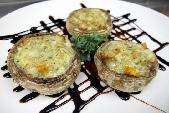 Soaring stuffed mushrooms at the Bonita Beach Balloon Bar & Grill on Bonita Beach Road in Bonita Springs.