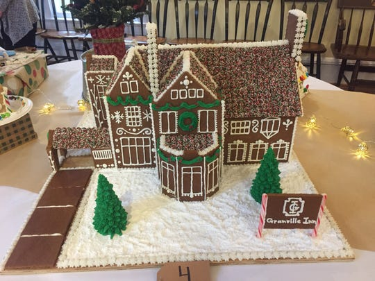 A gingerbread replica of the Granville Inn on display Saturday at Robbins Hunter Museum.