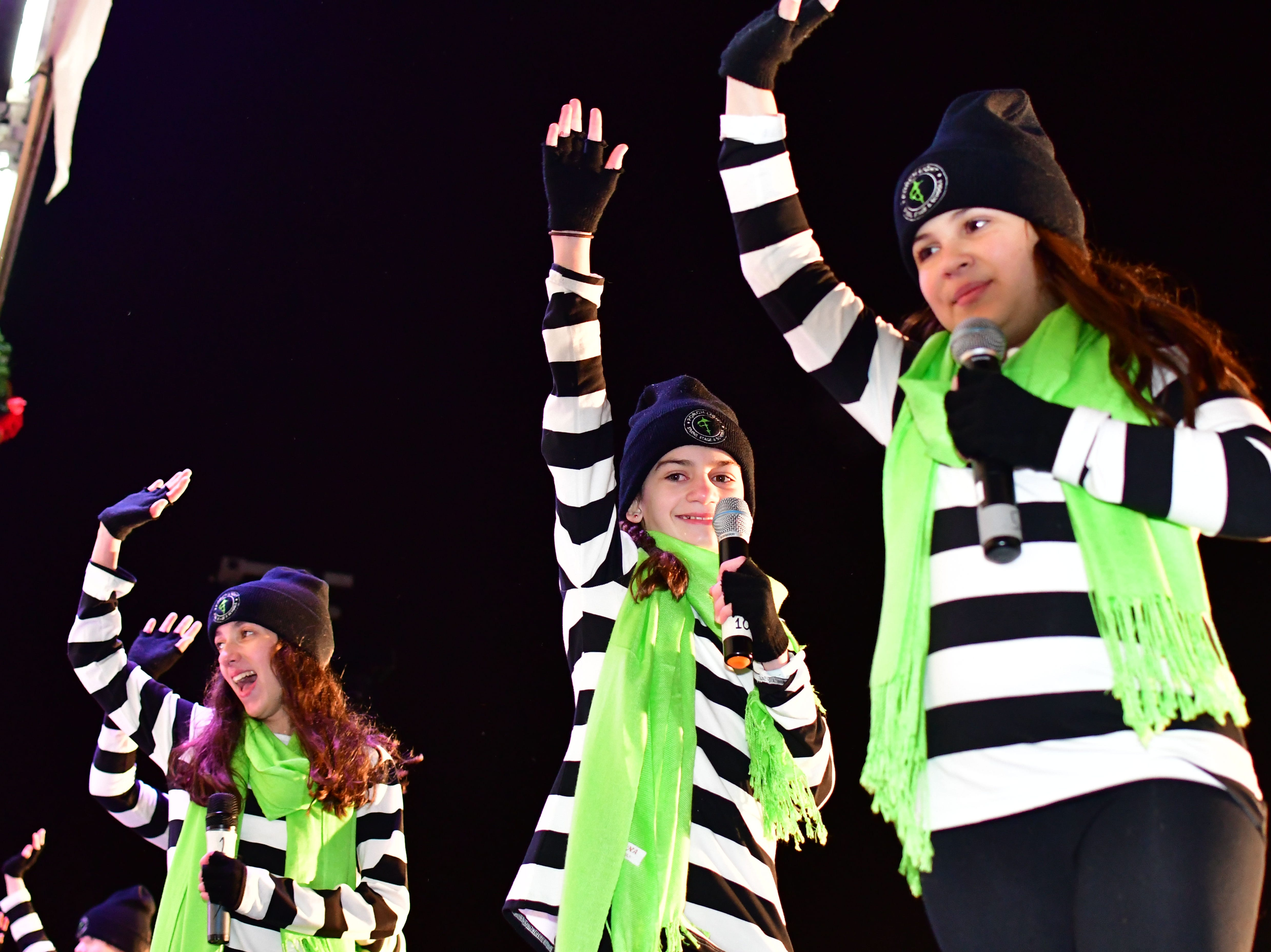 Stage performers. Holiday festivities along East Ridgewood Avenue in Ridgewood on Nov. 30.