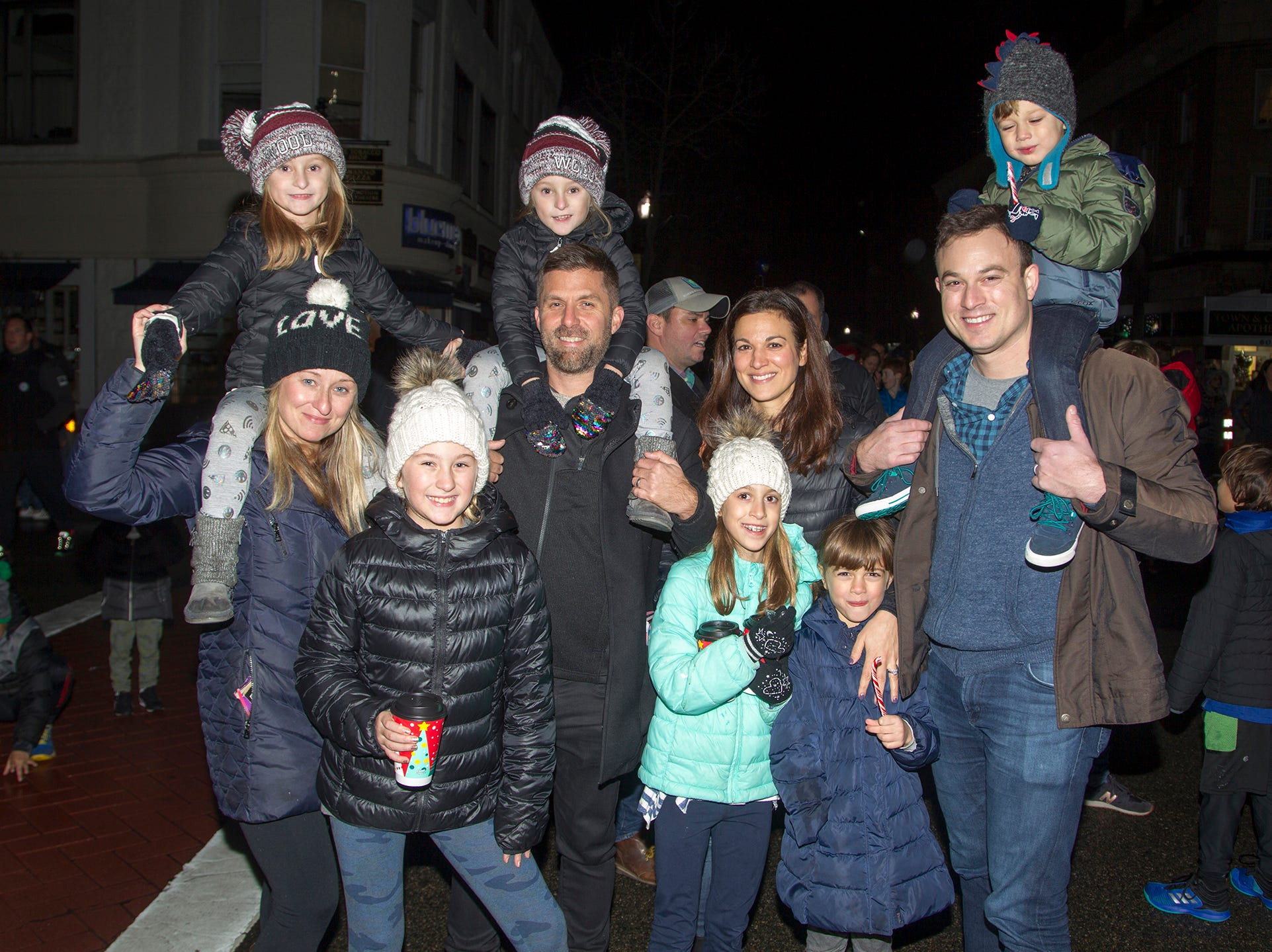 The Mclellan and Recchiuti Families. Ridgewood Chamber held its 33rd annual Downtown For The Holidays. 11/30/2018