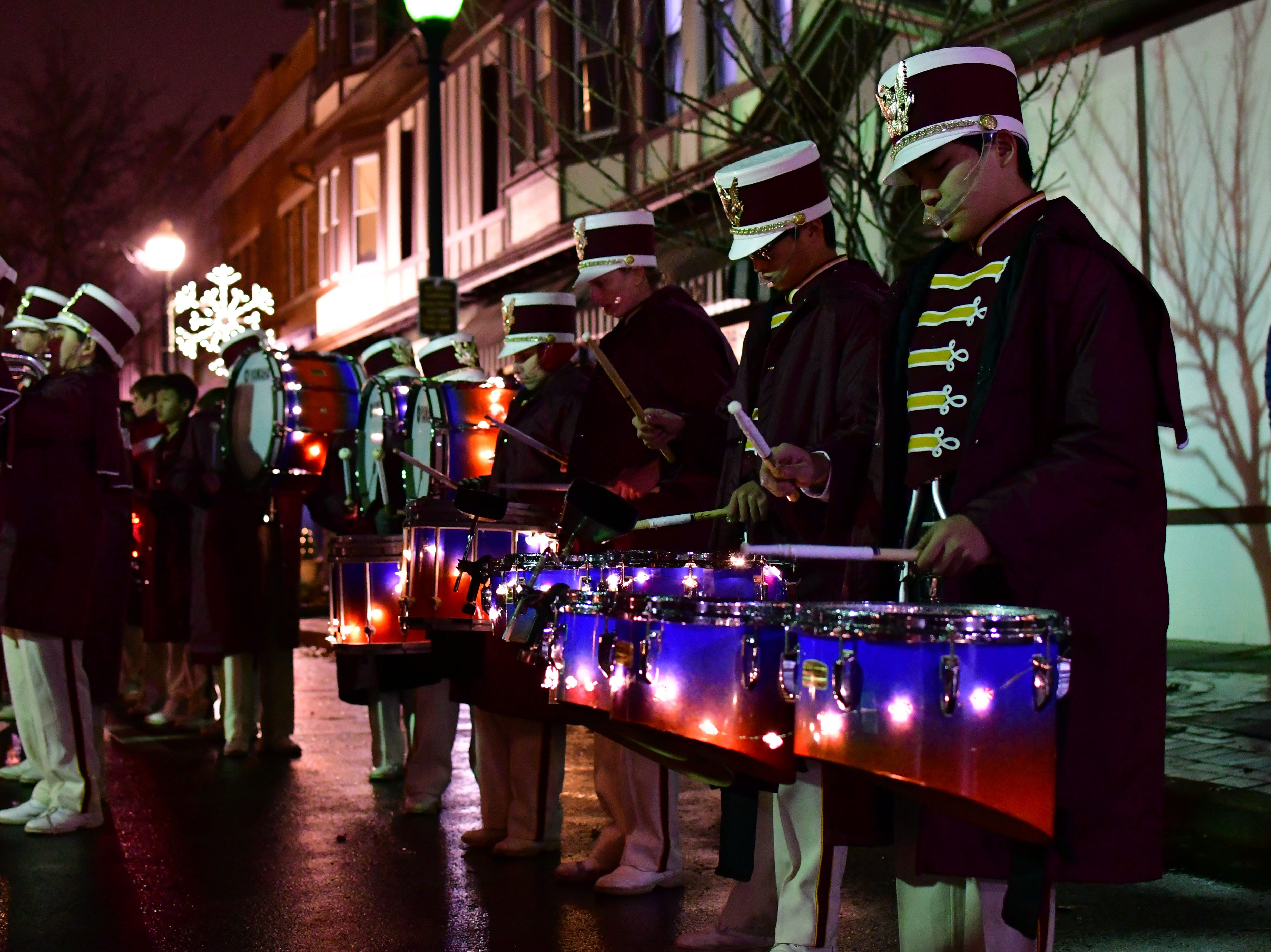 RHS marching band.  Holiday festivities along East Ridgewood Avenue in Ridgewood on Nov. 30.