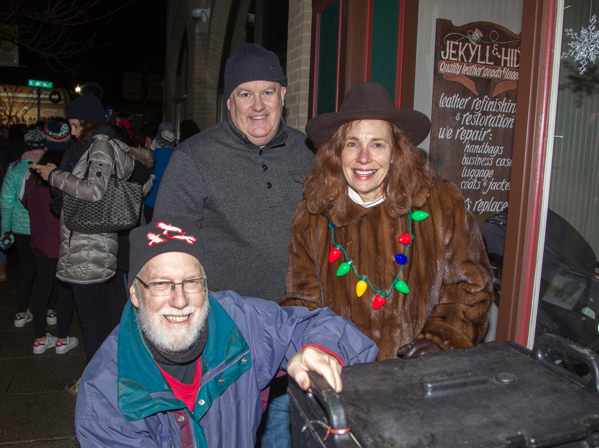Scott, Pamella, Chuck. Ridgewood Chamber held its 33rd annual Downtown For The Holidays. 11/30/2018