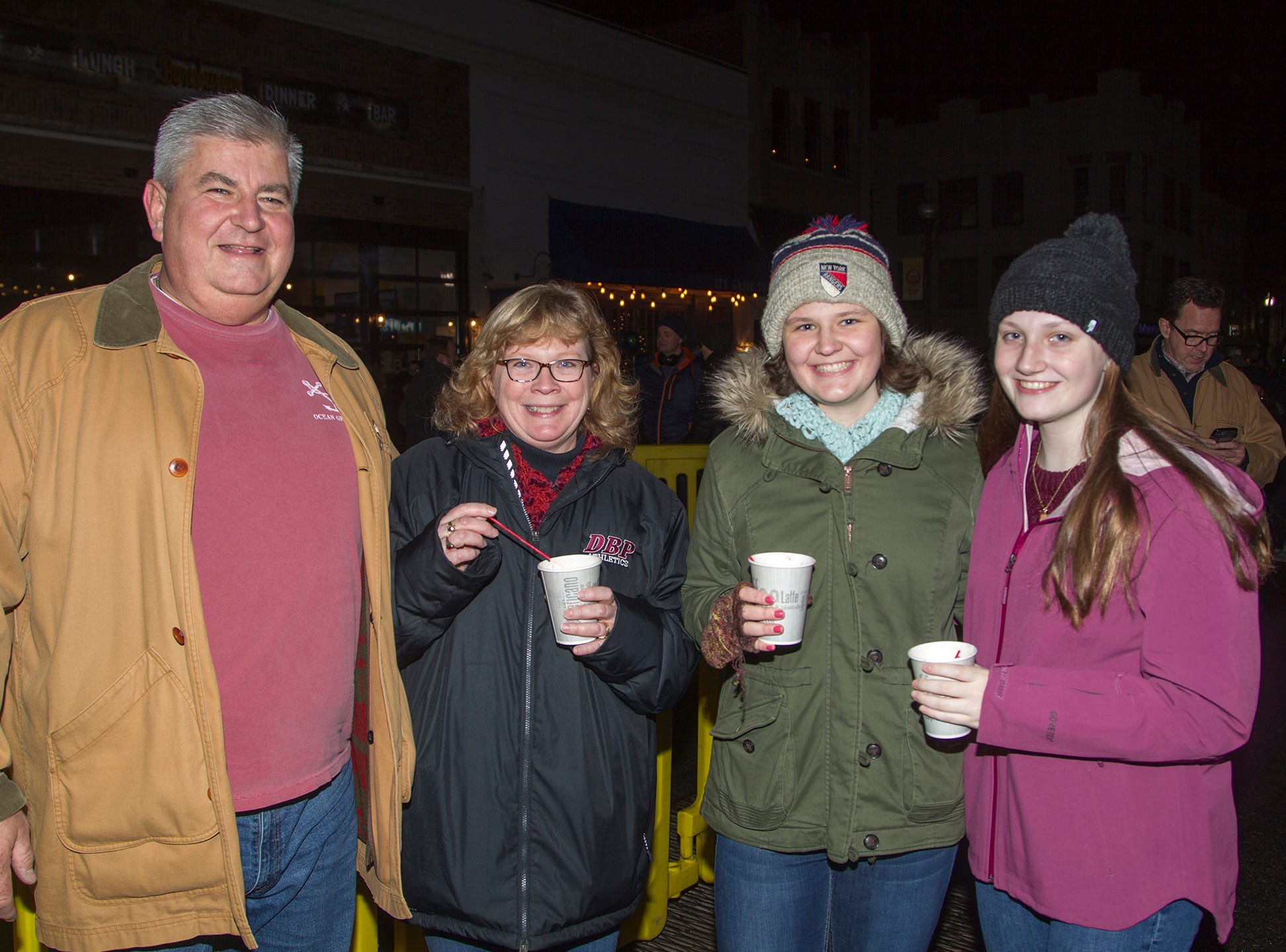 Mike, Trisha, Erin, Emma. Ridgewood Chamber held its 33rd annual Downtown For The Holidays. 11/30/2018