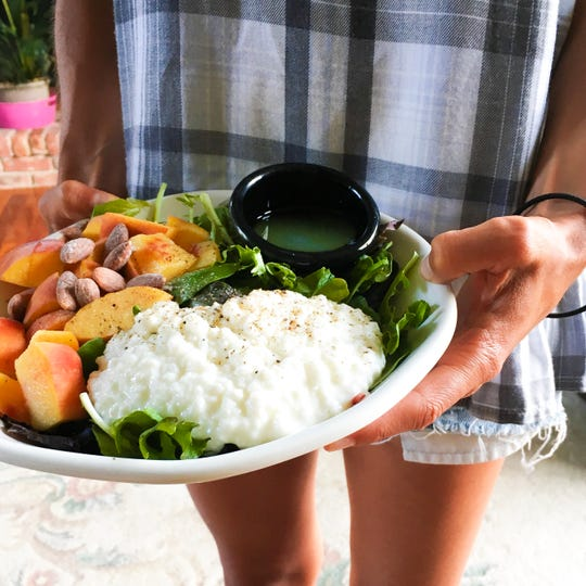 Blogger Michele Weinstein follows macros [a diet heavy in proteins, fats and carbohydrates], so she finds salad bowls easy and adaptable.