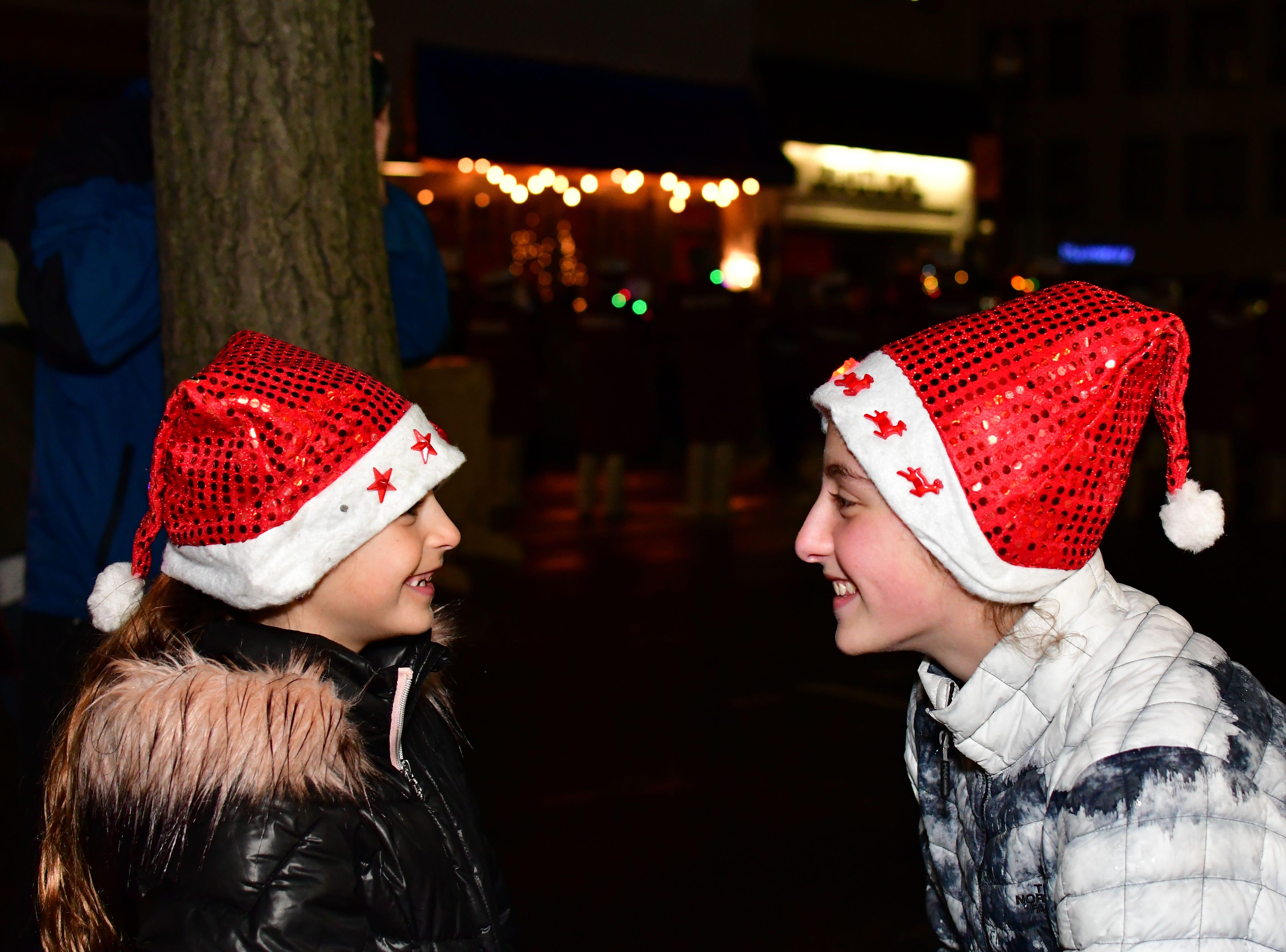 Gabriella and Giuliana Servedio. Holiday festivities along East Ridgewood Avenue in Ridgewood on Nov. 30.