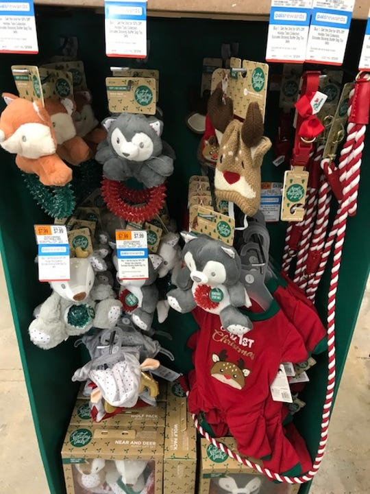 Christmas toy display at Petco in Hackensack