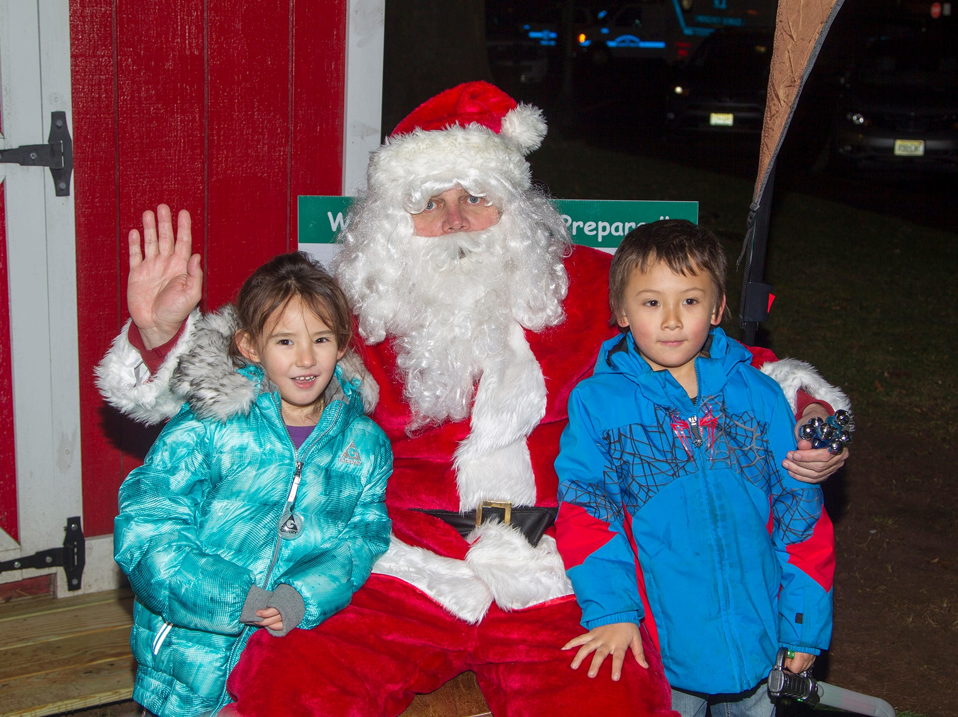 Carlu and Sean with Santa. Ridgewood Chamber held its 33rd annual Downtown For The Holidays. 11/30/2018