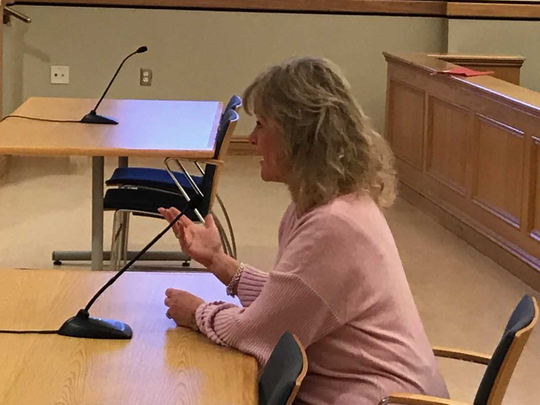 Jill Tschalis of Aspen Court argued on Nov. 29, 2018, that her home value had suffered from proximity to Fire Company 3, and would further deteriorate if a cell tower is installed on the 11-acre property.