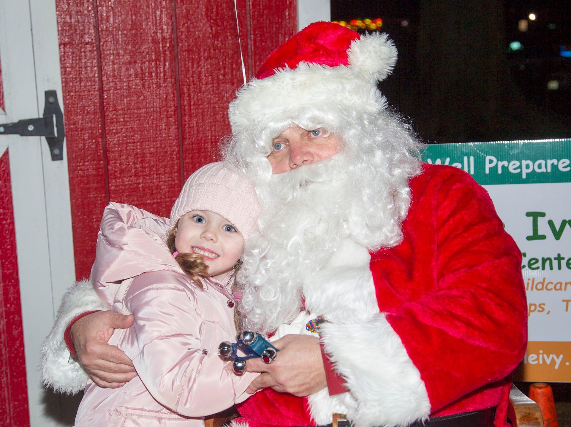 Olivia and Santa. Ridgewood Chamber held its 33rd annual Downtown For The Holidays. 11/30/2018